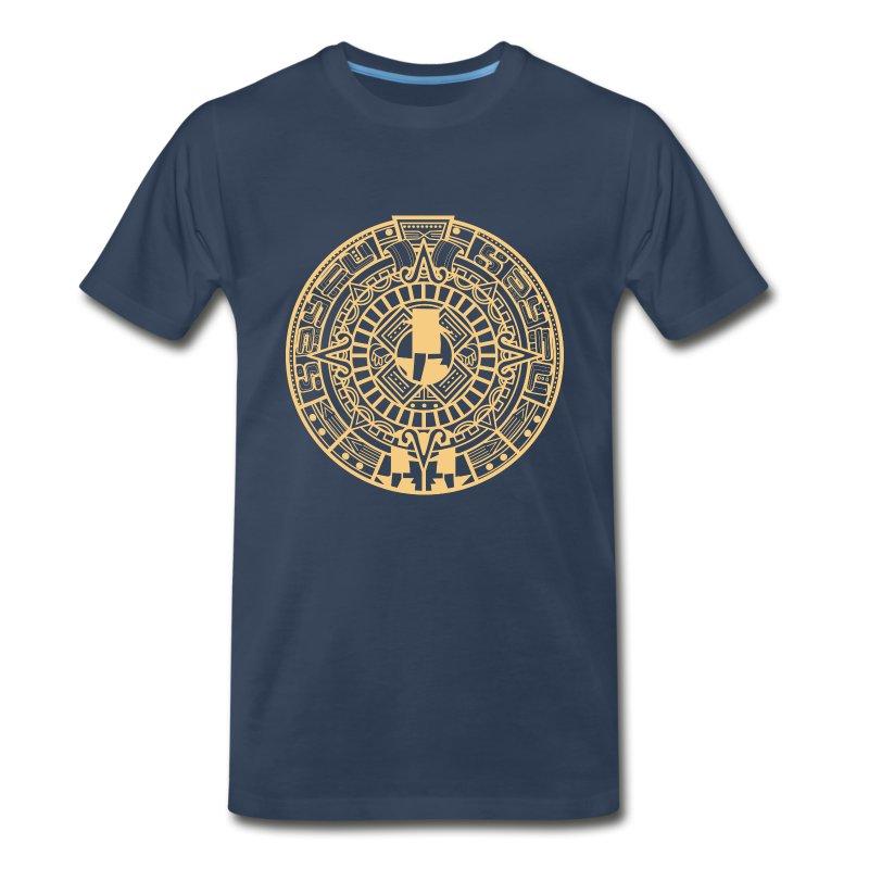 MayanCalendar_Gold - Men's Premium T-Shirt