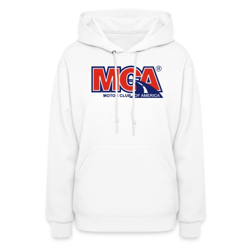 Womens White Hooded Shirt - Women's Hoodie
