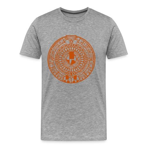 MayanCalendar_Orange - Men's Premium T-Shirt