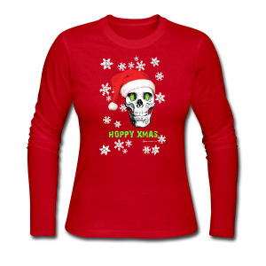 HOPSKULL Hoppy Xmas Women's Long Sleeved T-Shirt - Women's Long Sleeve Jersey T-Shirt