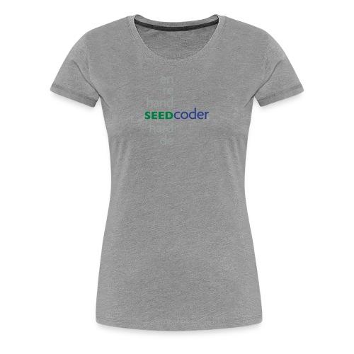 SeedCoder Women's T-Shirt Gray - Women's Premium T-Shirt