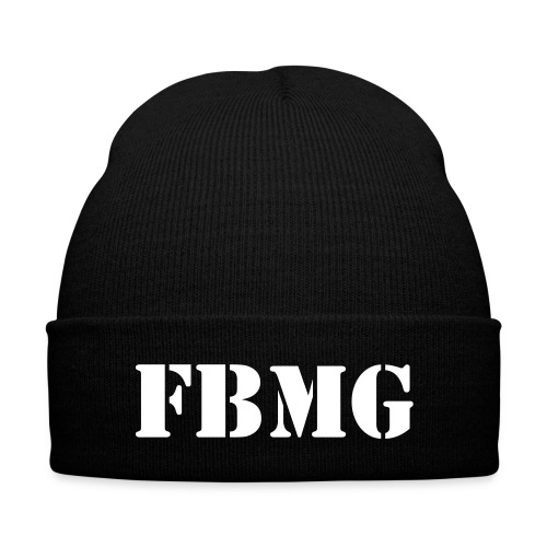 FBMG Beanie  - Knit Cap with Cuff Print