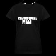 Women's T-Shirts ~ Women's V-Neck T-Shirt ~ Champagne Mami