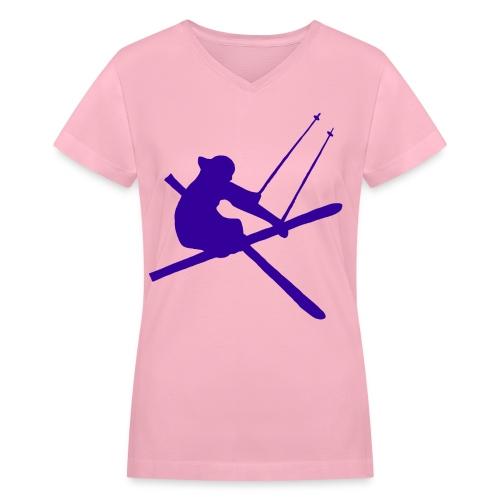Freeskier V-Neck T-Shirt - Women's - Women's V-Neck T-Shirt