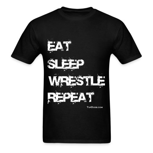 Eat Sleep Wrestle Repeat - Men's T-Shirt