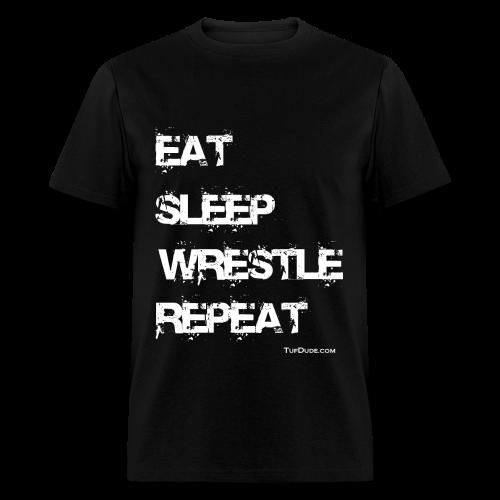 Eat Sleep Wrestle Repeat - Men's T-Shirt