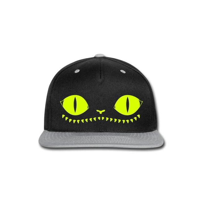 definitelynotfrancis creepy cat cap neon yellow snap back