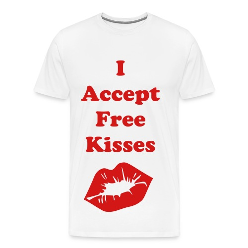 I accept kisses - Men's Premium T-Shirt