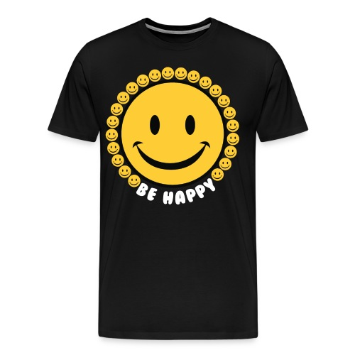 Be Happy Smiley Faces - Men's Premium T-Shirt