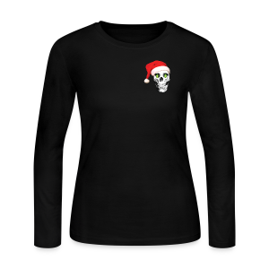 HOPSKULL Hoppy Xmas Women's Double Sided Long Sleeve T-Shirt - Women's Long Sleeve Jersey T-Shirt