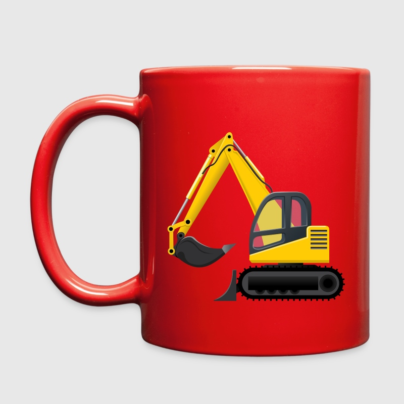 Yellow Cartoon Excavator - Full Color Mug