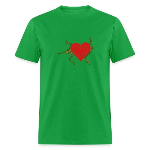 Grinch 3 sizes heart - Men's T-Shirt