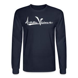 A.V. Men's Long Sleeve White Logo Design - Men's Long Sleeve T-Shirt
