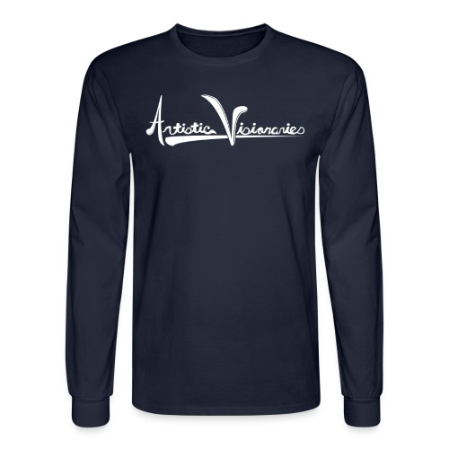 A.V. Men's Long Sleeve White Logo Design - Men's Long Sleeve T-Shirt