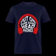 T-Shirts ~ Men's T-Shirt ~ Headphones (Censored)