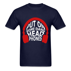 Headphones (Censored) - Men's T-Shirt