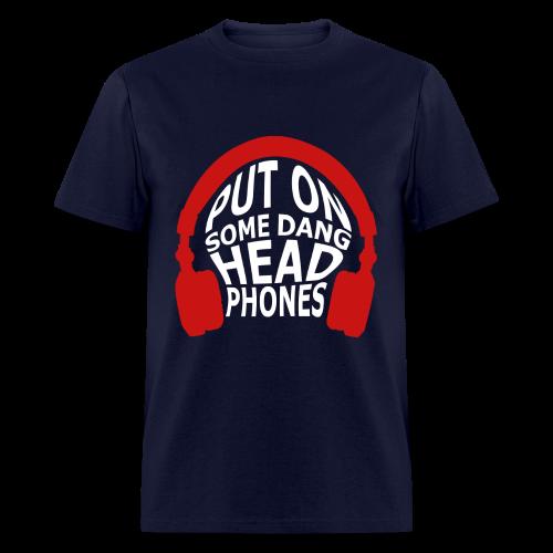 Headphones (Censored) - Men's T-Shirt