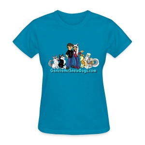 Snow Dogs Vlogs - Women's T-Shirt Standard Weight - Women's T-Shirt