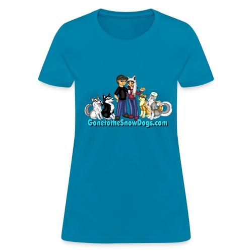 Snow Dogs Vlogs - Women's T-Shirt Standard Weight - Women's T-Shirt