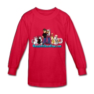 Kids' Shirts ~ Kids' Long Sleeve T-Shirt ~ Snow Dogs Vlogs - Kid's Long Sleeved