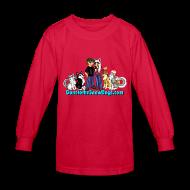 Kids' Shirts ~ Kids' Long Sleeve T-Shirt ~ Snow Dogs Vlogs - Kid's Long Sleeved