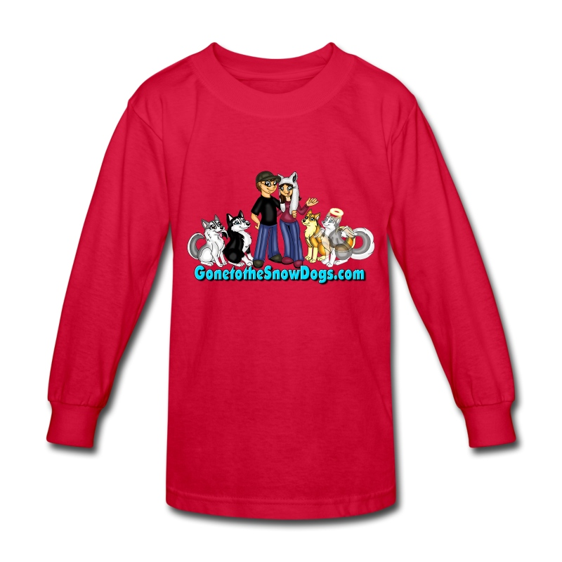 Snow Dogs Vlogs - Kid's Long Sleeved - Kids' Long Sleeve T-Shirt