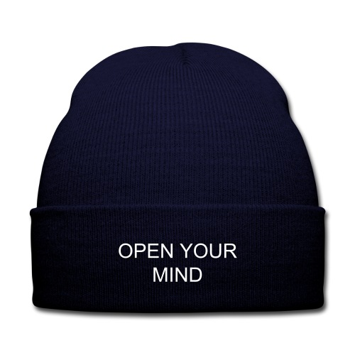 open your mind beanie - Knit Cap with Cuff Print