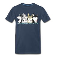 T-Shirts ~ Men's Premium T-Shirt ~ Gone to the Snow Dogs - Men's 3XL 4XL Shirt