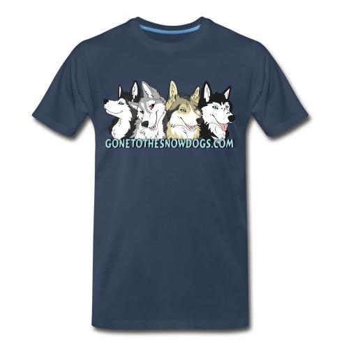 Gone to the Snow Dogs - Men's 3XL 4XL Shirt - Men's Premium T-Shirt