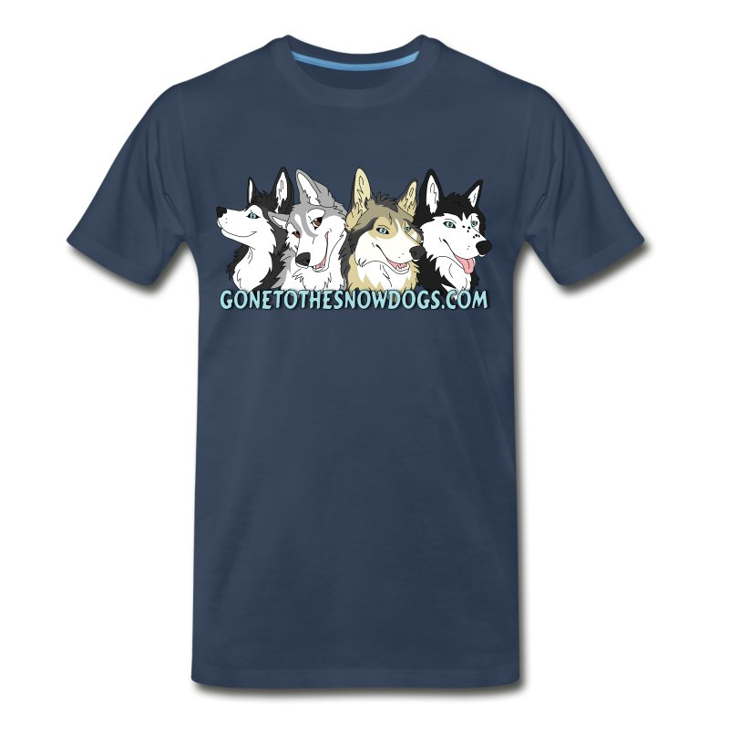 Gone to the Snow Dogs - Men's 3XL 4XL Shirt - Men's Premium T-Shirt