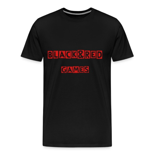 Black and Red Game T-shirt  - Men's Premium T-Shirt