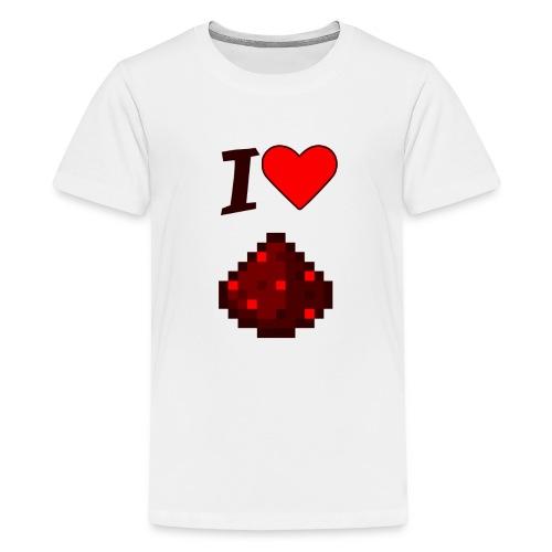 I Love Redstone! - Kids' Premium T-Shirt