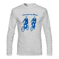 Long Sleeve Shirts ~ Men's Long Sleeve T-Shirt by American Apparel ~ Swedes On Bikes Long-Sleeve