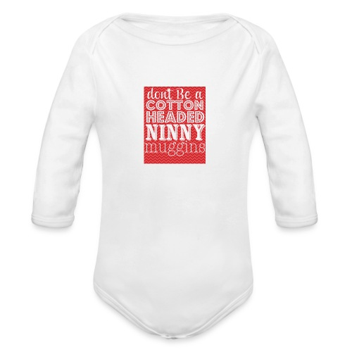 Cotton Headed Ninny Muggins - Baby Long Sleeve - Organic Long Sleeve Baby Bodysuit