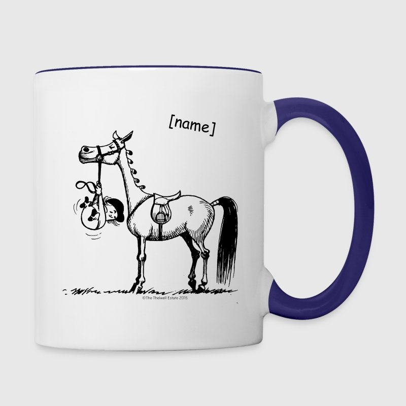 Stubborn Pony Thelwell Cartoon Mugs & Drinkware - Contrast Coffee Mug