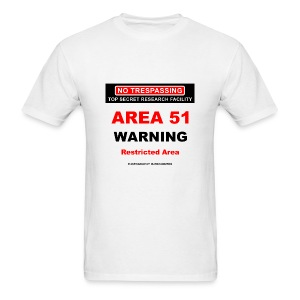 Area 51 Dreamland Warning - Men's T-Shirt