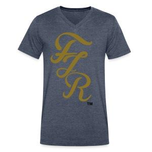 FJR Signature - Men's V-Neck T-Shirt by Canvas