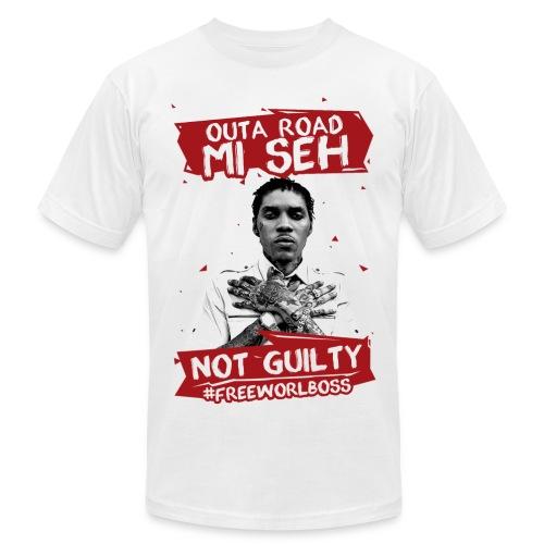 #FREEWORLBOSS 2.0 - RED - Men's Fine Jersey T-Shirt