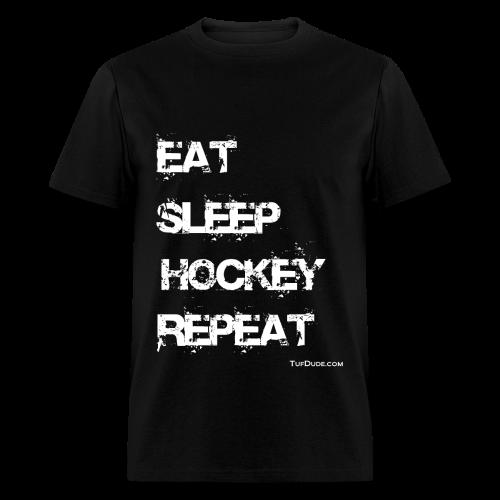 Men's Eat Sleep Hockey Repeat - wb  - Men's T-Shirt