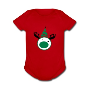 Reindeer Baby Short Sleeve One Piece - Short Sleeve Baby Bodysuit