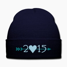 2015 Knit Cap with Cuff Print