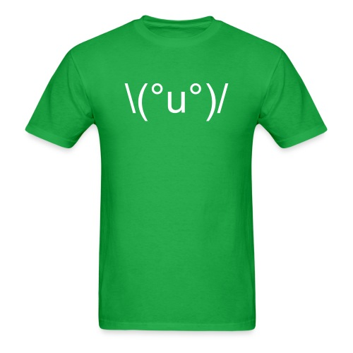 \(°u°)/ - HOORAY! - Men's T-Shirt