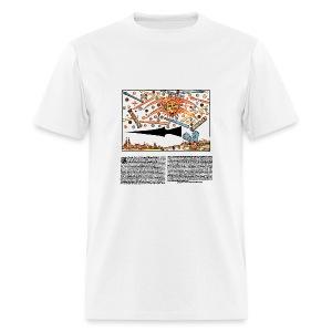 UFOs over Nuremberg 1561 - Men's T-Shirt