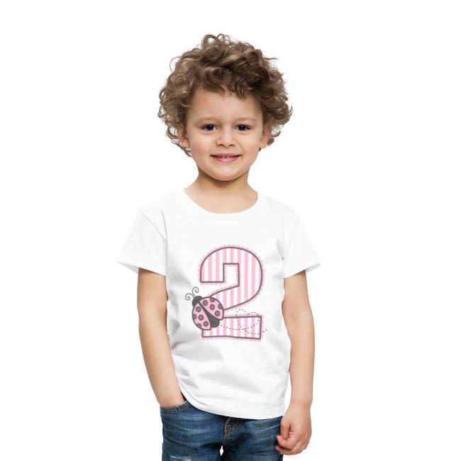 Pink Ladybug 2nd Birthday T Shirt