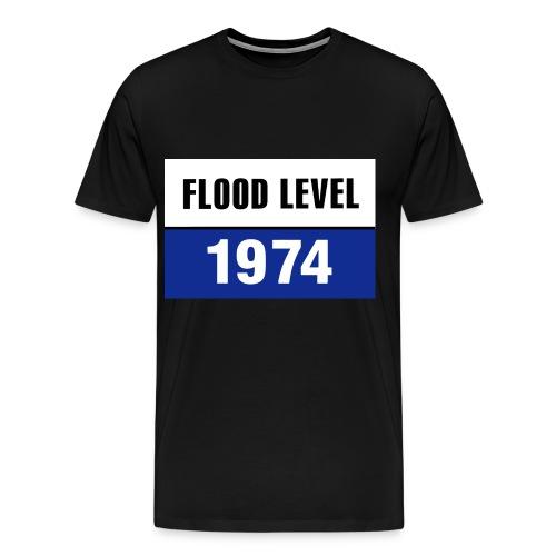 FLOOD LEVEL 1974 - men's Tshirt - Men's Premium T-Shirt