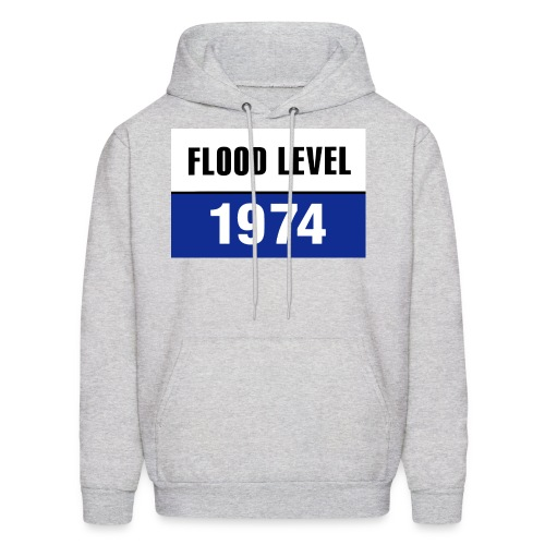 FLOOD LEVEL 1974 - men's hoodie - Men's Hoodie