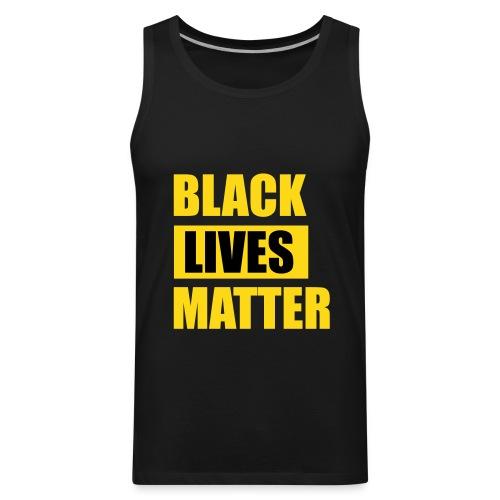 Black Lives Matter Sleeveless Tank Top - Men's Premium Tank