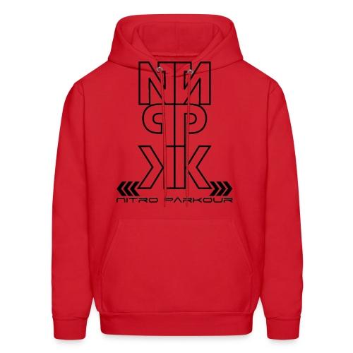 Red NPK White mirror HODDIE - Men's Hoodie