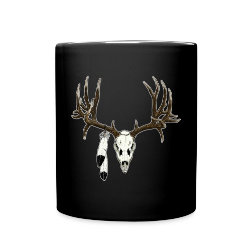 Deer skull with feathers - Full Color Mug