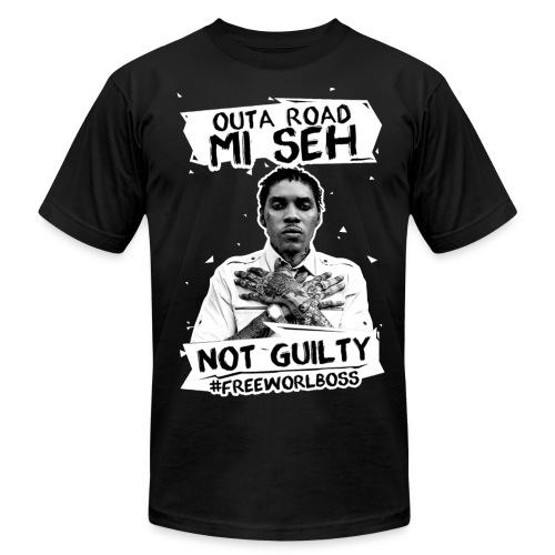 #FREEWORLBOSS 2.0 - WHITE - Men's Fine Jersey T-Shirt